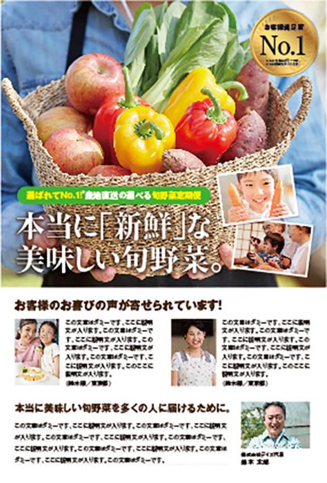 野菜定期便 DMハガキ
