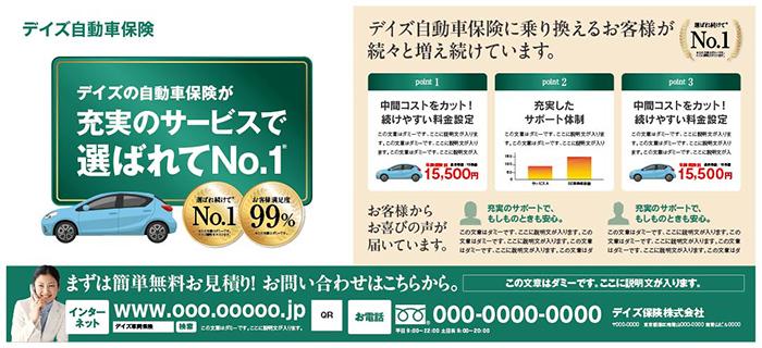 自動車保険 新聞広告全5段